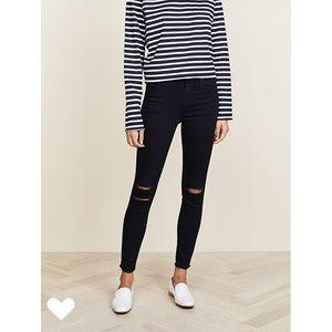 J Brand high rise Alana crop jeans blue mercy